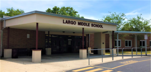 Front of Largo Middle School
