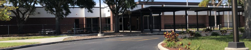 Picture of front of Bauder Middle School, Seminole